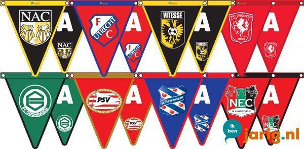 voetbalclub logo vlaggetjes with vlaggetjes